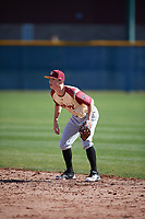 Elijah Maris (7) of Indiana University High School in Atlanta, Georgia during the Baseball Factory All-America Pre-Season Tournament, powered by Under Armour, on January 13, 2018 at Sloan Park Complex in Mesa, Arizona.  (Mike Janes/Four Seam Images)