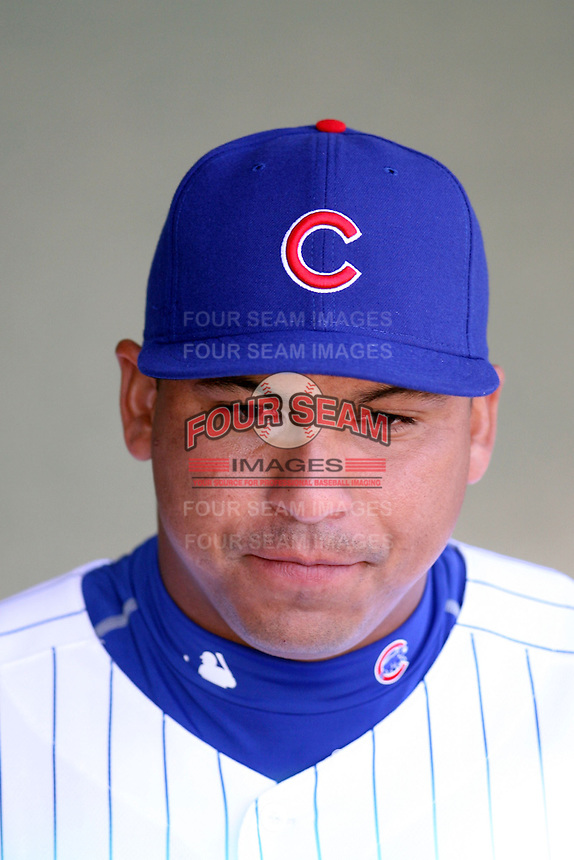 February 29, 2008: Carlos Zambrano of the Chicago Cubs at Hohokam Park during spring training in Mesa, AZ. Photo by:  Chris Proctor/Four Seam Images