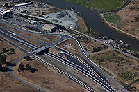 aerial photograph freeway construction, US highway 101, Petaluma, Sonoma County, California