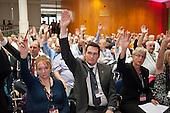 Delegates voting. TUC Congress 2011 London.