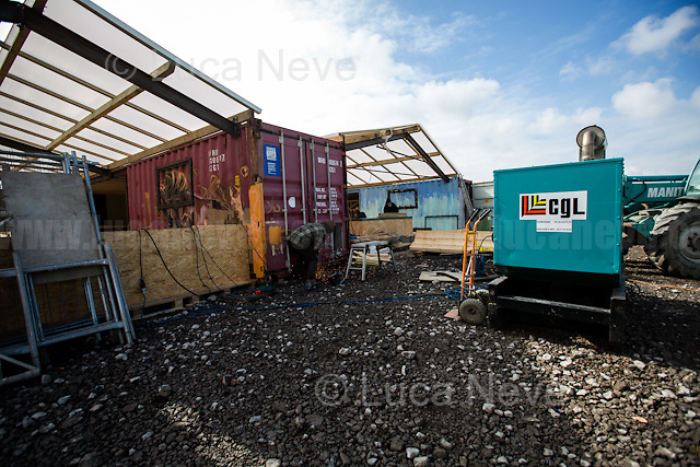 Work in progress: one of the new kitchens.<br />