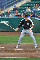Tyler Bugner (11) of the Grand Junction Rockies at bat against the Ogden Raptors in Pioneer League action at Lindquist Field on August 26, 2016 in Ogden, Utah. The Raptors defeated the Rockies 6-5. (Stephen Smith/Four Seam Images)