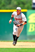 15 July 2010: Aberdeen IronBirds' fielder Austin Knight in action against the Vermont Lake Monsters at Centennial Field in Burlington, Vermont. The Lake Monsters rallied in the bottom of the 9th inning to defeat the IronBirds 7-6 notching their league leading 20th win of the 2010 NY Penn League season. Mandatory Credit: Ed Wolfstein Photo