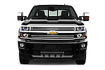 Car photography straight front view of a 2016 Chevrolet Silverado 2500Hd High Country 4 Door Pick Up Front View