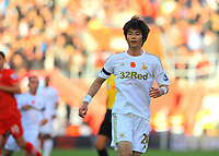 Saturday 10 November 2012<br /> Pictured: Ki Sung Yueng of Swansea<br /> Re: Barclay's Premier League, Southampton FC v Swansea City FC at St Mary's Stadium, Southampton, UK.