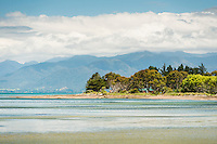 Picturesque coast around Collingwood near Farewell Spit in Golden Bay, Nelson Region, South Island, New Zealand