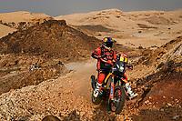 7th January 2021; Riyadh to Buraydah, Saudi Arabia; Dakar Rally, stage 5;  #03 Price Toby (aus), KTM, Red Bull KTM Factory Team, Moto, Bike, action during the 5th stage of the Dakar 2021 between Riyadh and Al Qaisumah, in Saudi Arabia on January 7, 2021
