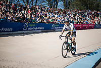 Although possibly being the strongest man in-race, world champ Peter Sagan (SVK/Bora-Hansgrohe) finishes only 38th, more than 5 minutes behind race winner Van Avermaet due to double mechanical failure in the race finale<br /> <br /> 115th Paris-Roubaix 2017 (1.UWT)<br /> One Day Race: Compiègne › Roubaix (257km)