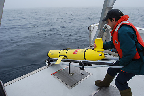 Deploying the SLOCUM Glider. The SeaMonitor project uses innovative marine species tracking technology to better understand vulnerable marine life in our oceans