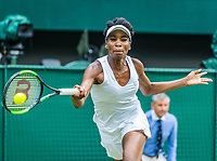 London, England, 10th July 2017. Tennis, Wimbledon. Venus Williams (USA). Photo Henk Koster, Tennis Images.