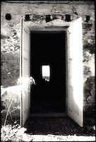 Doorway of abandoned home<br />