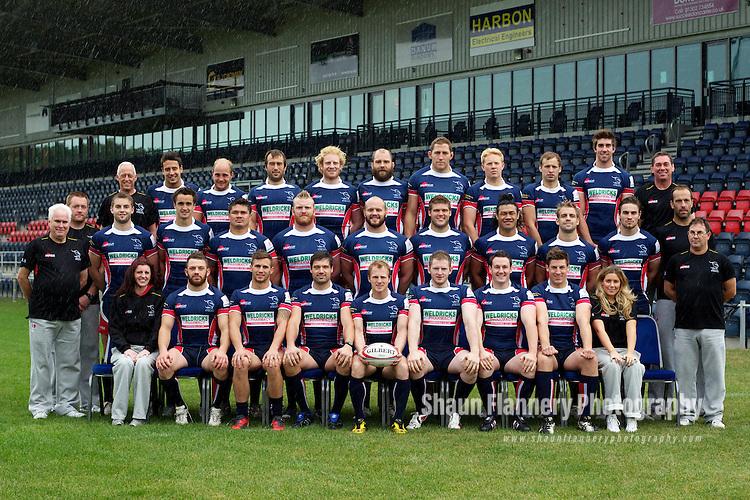 Pix: Shaun Flannery/shaunflanneryphotography.com...COPYRIGHT PICTURE>>SHAUN FLANNERY>01302-570814>>07778315553>>..6th October 2011.................Doncaster Knights Rugby Union team 2011/12..Left to right front row:  Vicky Chapman, Zack Farivarz, Oli Goss, Chris Planchant, Chris Hallam (C), Michael Noone, Andy Brown, Andy Boyde, Emma Beaglehole..Left to right middle row:  Paul Turton, Brett Davey (DOR), Michael Keating, David McIlwaine, PJ Gidlow, Royce Burke-Flynn, Jack Yeandle, Alex Brown, Latu Makaafi, Tom Luke, Dougie Flockhart, Glen Kenworthy, Kevin Clifton..Left to right top row: Ian Swindell, Michael Bateman, Ben Toft, Steve Boden, David Bradford, Stuart Corsar, Matt Challinor, Mike Whitehead, Lee Audis, Dominic Parsons, Neil Kelly.