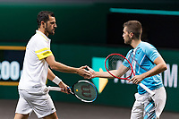 Rotterdam, The Netherlands, 6 march  2021, ABNAMRO World Tennis Tournament, Ahoy,  Semi final doubles: Nikola Mektic (CRO) / Mate Pavic (CRO). Photo: www.tennisimages.com/henkkoster
