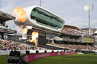 The pyrotechnics in front of the media centre during London Spirit Men vs Trent Rockets Men, The Hundred Cricket at Lord's Cricket Ground on 29th July 2021