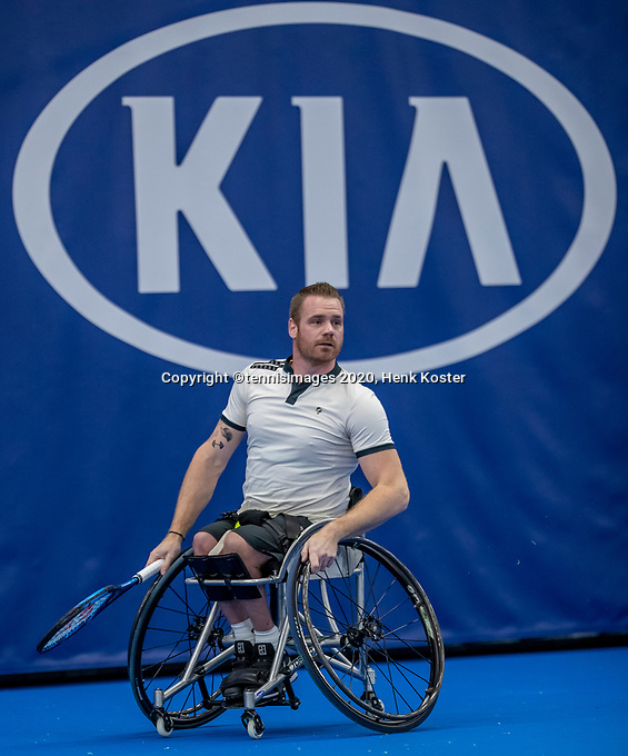 Amstelveen, Netherlands, 12  December, 2020, National Tennis Center, NTC, NKR, National   Indoor Wheelchair Tennis Championships, Men's single Final : Maikel Scheffers (NED)<br /> Photo: Henk Koster/tennisimages.com
