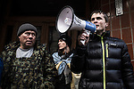 Kiev, Ukraine, 5 december 2013. Anti-government protesters rally outside of one of the presidency office near Presidential Administration.