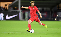 WASHINGTON, D.C. - OCTOBER 11: Tim Ream #13 of the United States crosses over a ball during their Nations League game versus Cuba at Audi Field, on October 11, 2019 in Washington D.C.