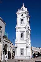 Tripoli, Libya - Turkish Clock Tower, 19th Century.  Entrance to Suq al-Ghizdir (Copper Suq or Market) to left of tower.