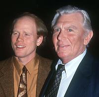 Ron Howard Andy Griffith 1992<br /> Photo By John Barrett/PHOTOlink