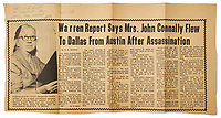 BNPS.co.uk (01202 558833)<br /> Pic: NateD.Sanders/BNPS<br /> <br /> Pictured: An article about Marguerite Oswald.<br /> <br /> A rare letter by the mother of Lee Harvey Oswald in which she insists her 'innocent' son was framed for the murder of JFK has come to light.<br /> <br /> Marguerite Oswald leapt to the defence of the 24-year-old in the letter that she wrote in 1966, three years after the assassination of the US president and the subsequent murder of her son.<br /> <br /> She rubbished the official report into the assassination that concluded that Oswald had acted alone, implying early on that it was a conspiracy involving others.