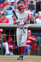 Florida State Seminoles Robby Stahl #17 during a scrimmage vs the Philadelphia Phillies  at Bright House Field in Clearwater, Florida;  February 24, 2011.  Philadelphia defeated Florida State 8-0.  Photo By Mike Janes/Four Seam Images