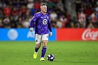 Orlando, FL - Wednesday July 31, 2019:  Wayne Rooney #23 during an Major League Soccer (MLS) All-Star match between the MLS All-Stars and Atletico Madrid at Exploria Stadium.