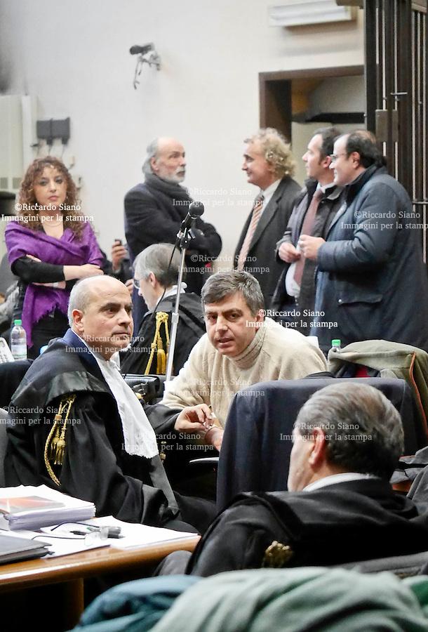 - NAPOLI  12 FEB    2014 - Processo a Berlusconi<br /> in aula Lavitola.  nella foto