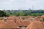 London housing, skyline The Shard.