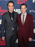 """NEW YORK CITY, NY, USA - MAY 12: Jim Parsons, Todd Spiewak at the New York Screening Of HBO's """"The Normal Heart"""" held at the Ziegfeld Theater on May 12, 2014 in New York City, New York, United States. (Photo by Celebrity Monitor)"""