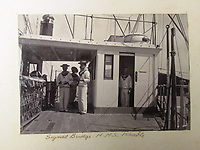 BNPS.co.uk (01202) 558833<br /> Pic: Charles Miller/BNPS<br /> <br /> The Crew on the Signal Bridge on HMS Terrible<br /> <br /> A fascinating photo album compiled by a British naval officer on tour in the Far East at the turn of the 20th century has come to light.<br /> <br /> Taprell Dorling served on the HMS Terrible in 1900 at the start of an over 30 year career at sea.<br /> <br /> The album, containing 74 photos, has emerged for sale with auctioneers Charles Miller, of London, with an estimate of £3,000.
