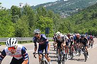 27th May 2021; Rovereto, Trentino, Italy; Giro D Italia Cycling, Stage 18 Rovereto to Stradella; Riders leaving Rovereto on a long climb