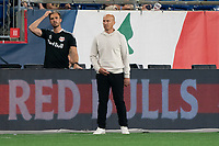 FOXBOROUGH, MA - MAY 22: New York Red Bulls coach Gerhard Struber during a game between New York Red Bulls and New England Revolution at Gillette Stadium on May 22, 2021 in Foxborough, Massachusetts.