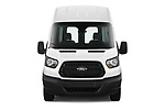 Car photography straight front view of a 2019 Ford Transit-Van - 4 Door Cargo Van Front View