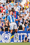 Gabriel of Deportivo Leganes fights for the ball with Samuel Umtiti of FC Barcelona during their La Liga match between Deportivo Leganes and FC Barcelona at the Butarque Municipal Stadium on 17 September 2016 in Madrid, Spain. Photo by Diego Gonzalez Souto / Power Sport Images