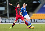 St Johnstone v St Mirren…16.01.21   McDiarmid Park     SPFL<br />Ali McCann is tackled by Jamie McGrath<br />Picture by Graeme Hart.<br />Copyright Perthshire Picture Agency<br />Tel: 01738 623350  Mobile: 07990 594431