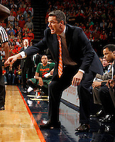 CHARLOTTESVILLE, VA- JANUARY 7: Head coach Tony Bennett of the Virginia Cavaliers coaches his team during the game against the Miami Hurricanes on January 7, 2012 at the John Paul Jones Arena in Charlottesville, Virginia. Virginia defeated Miami 52-51. (Photo by Andrew Shurtleff/Getty Images) *** Local Caption *** Tony Bennett