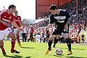 Matt Ball of Stevenage takes on Joe Devera of Swindon. Swindon Town v Stevenage - npower League 1 -  County Ground, Swindon - 20th April, 2013. © Kevin Coleman 2013..