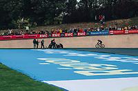 3rd October 2021, Paris–Roubaix Mens Cycling tour;  Sonny Colbrelli. Celebrates during the Paris–Roubaix which is famous for its uneven cobblestone course.