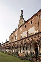 Il Chiostro grande della Certosa di Pavia.<br /> The Grand Cloister of the Certosa di Pavia.<br /> UPDATE IMAGES PRESS/Riccardo De Luca