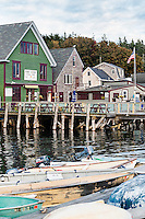Port Clyde harbor and general store, Maine, USA
