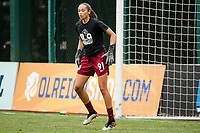TACOMA, WA - JULY 31: Phallon Tullis-Joyce #91 of the OL Reign before a game between Racing Louisville FC and OL Reign at Cheney Stadium on July 31, 2021 in Tacoma, Washington.