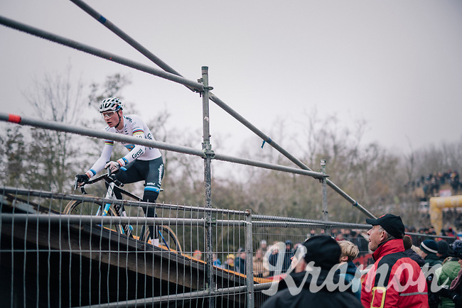 yet another start-to-finish dominance by European CX Champion Mathieu van der Poel (NED/Corendon-Circus)<br /> <br /> CX World Cup Koksijde 2018