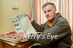 Sean Dineen of Connolly Park with his collection of newspapers and magazines from the 1930's onwards.