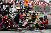 Robert Wickens, Schmidt Peterson Motorsports Honda, pit stop