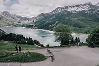 descending from the Col du Pré<br /> <br /> Stage 6: Frontenex > La Rosière Espace San Bernardo (110km)<br /> 70th Critérium du Dauphiné 2018 (2.UWT)