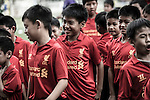Warrior Football ran a coaching clinic in conjunction with the LFC Foundation for a group of up-and-coming Thai footballers in Bangkok.  Photo by Andy Jones / The Power of Sport Images for Warrior Football.