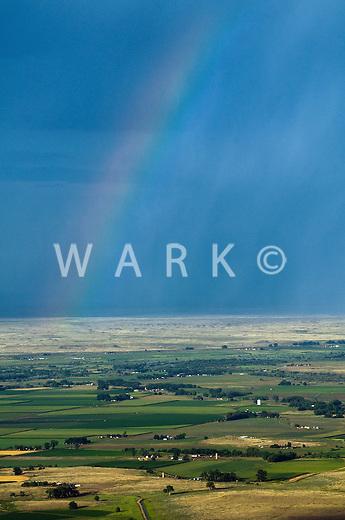 Farmland rainbow.  Pueblo County, Colorado. July 2007