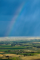 Farmland rainbow.  Pueblo County, Colorado. July 2007