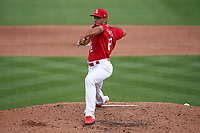 St. Louis Cardinals pitcher Jordan Hicks (12) during a Major League Spring Training game against the Houston Astros on March 20, 2021 at Roger Dean Stadium in Jupiter, Florida.  (Mike Janes/Four Seam Images)