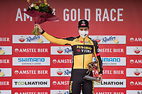 Wout van Aert (BEL/Jumbo-Visma) wins the 55th Amstel Gold Race 2021 (1.UWT)<br /> <br /> 1 day race from Valkenburg to Berg en Terblijt; raced on closed circuit (NED/217km)<br /> <br /> ©kramon